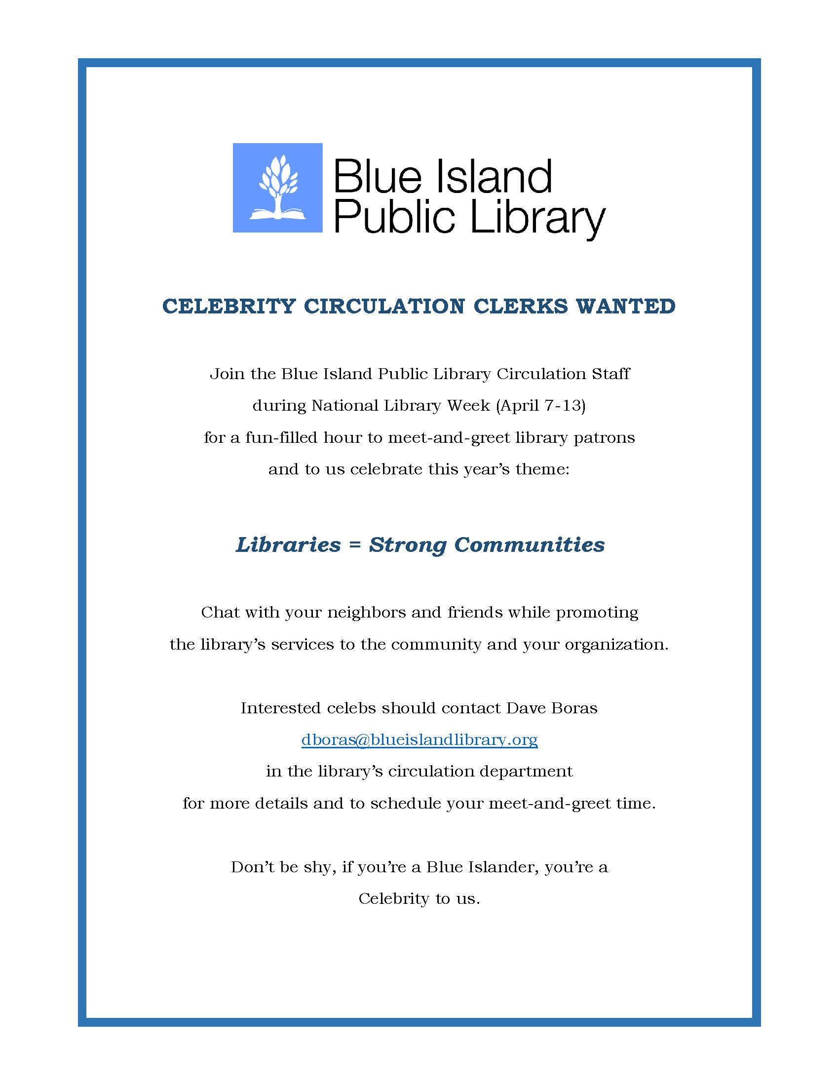 blue island national library week