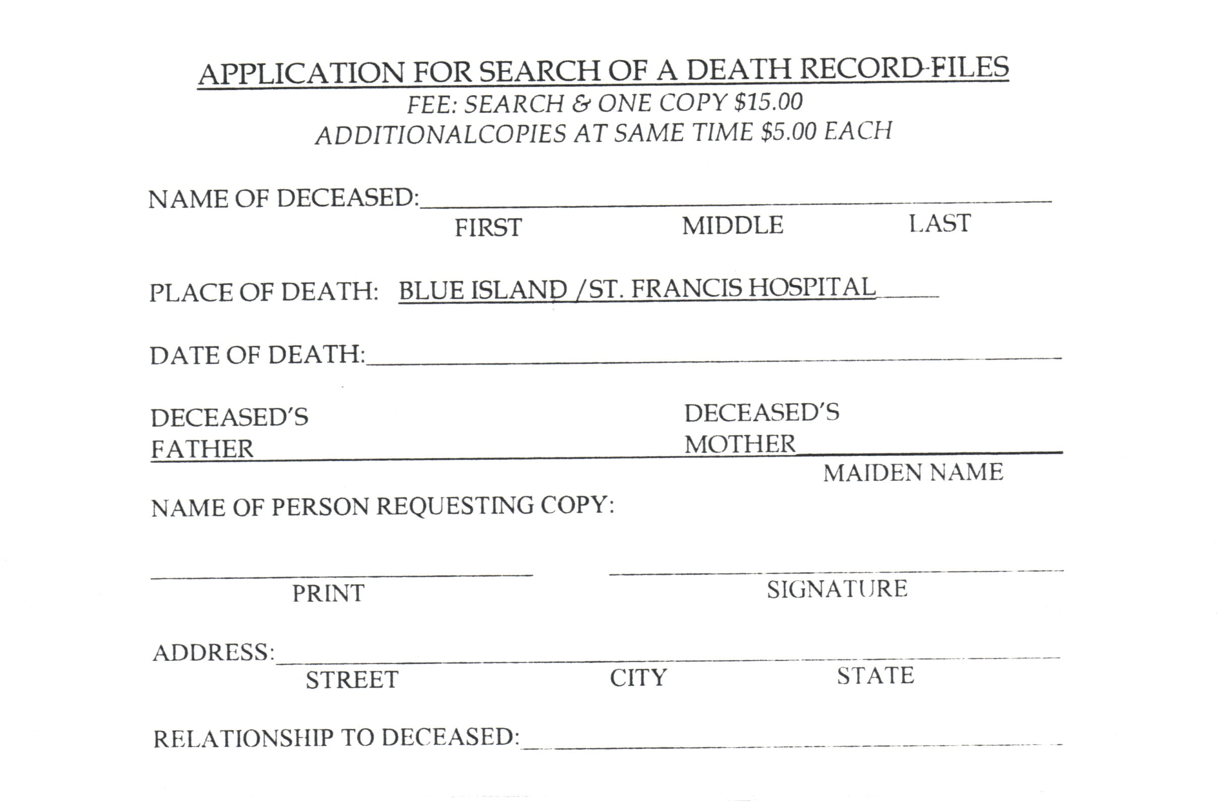 Department Of Health Nyc Birth Certificate